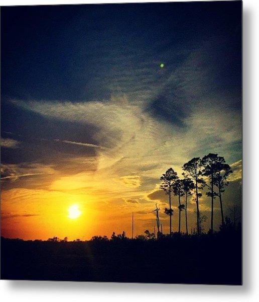 #myworld #iphone6 #sunset #landscape Metal Print