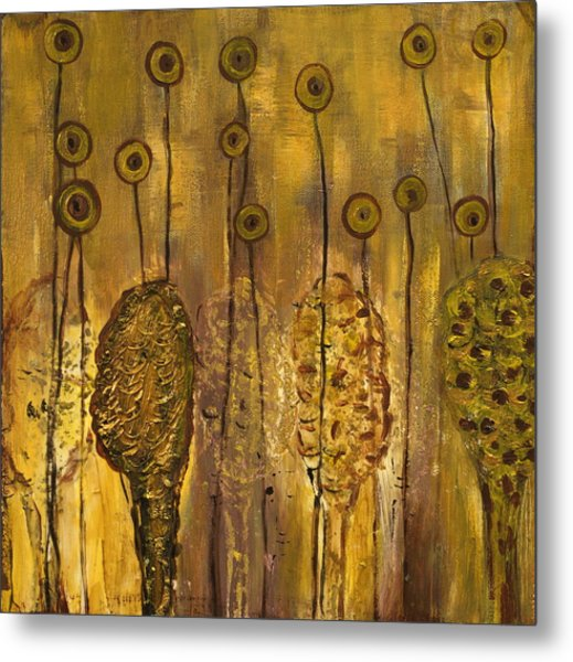Myxomycetes Metal Print by Angela Dickerson