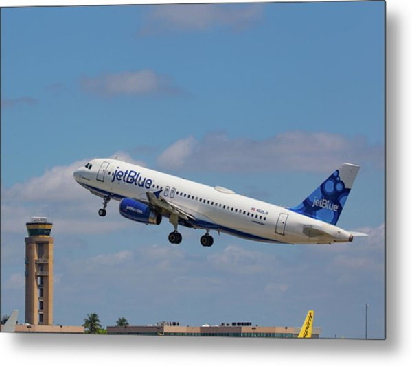 N625jb Jetblue At Fll Metal Print