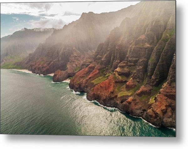 Na Pali Coast 4 - Kauai Hawaii Metal Print