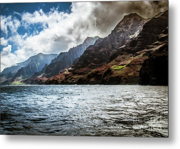 Na Pali Coast Cliffs Kauai Hawaii Metal Print