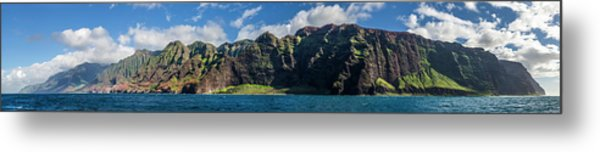 Na Pali Coast Panoramic Metal Print