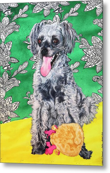 Metal Print featuring the painting Nacho by Xavier Francois