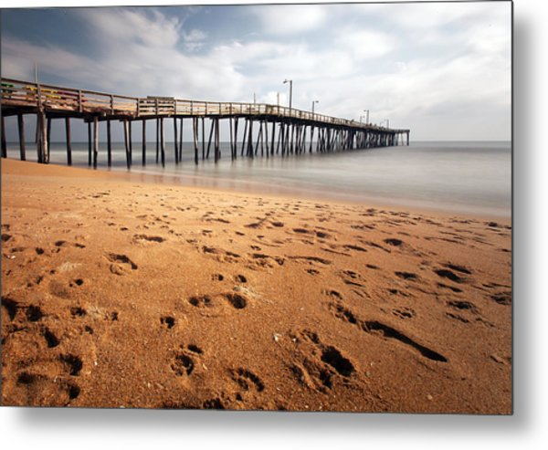 Nags Head Fishing Pier Metal Print