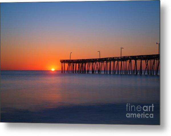 Nags Head Fishing Pier Sunrise Metal Print