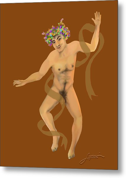 Metal Print featuring the painting Naked Dancer #7 by Thomas Lupari