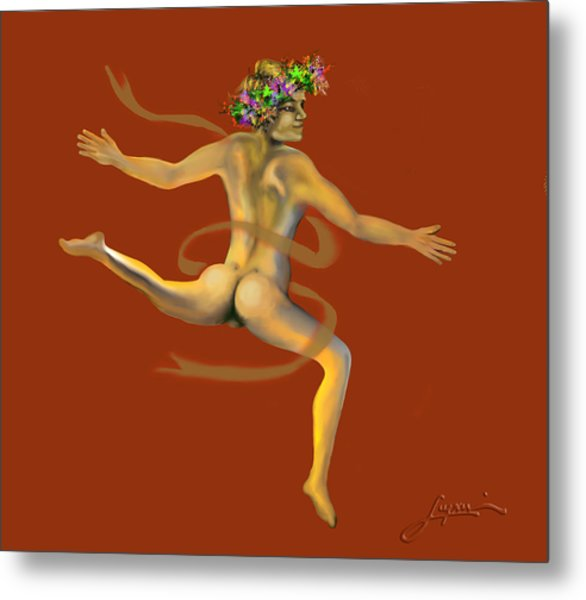 Metal Print featuring the painting Naked Dancer by Thomas Lupari
