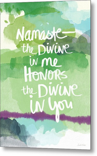 Namaste- Watercolor Card Metal Print