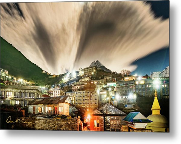 Metal Print featuring the photograph Namche Night by Dan McGeorge