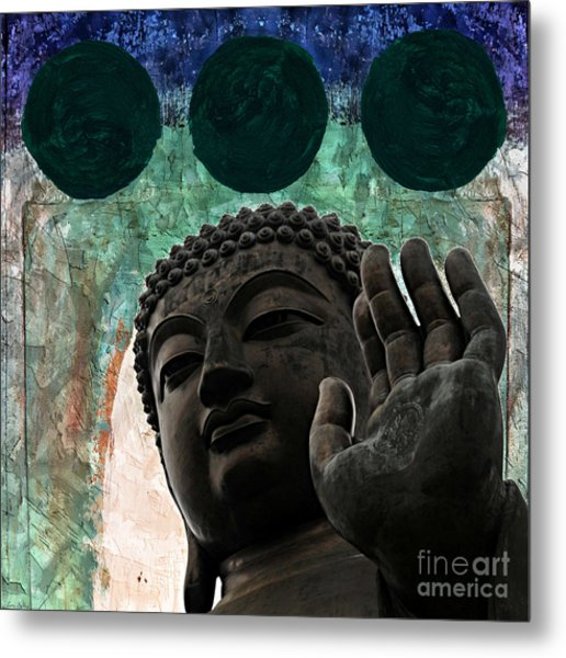 Namo Buddhaya Metal Print