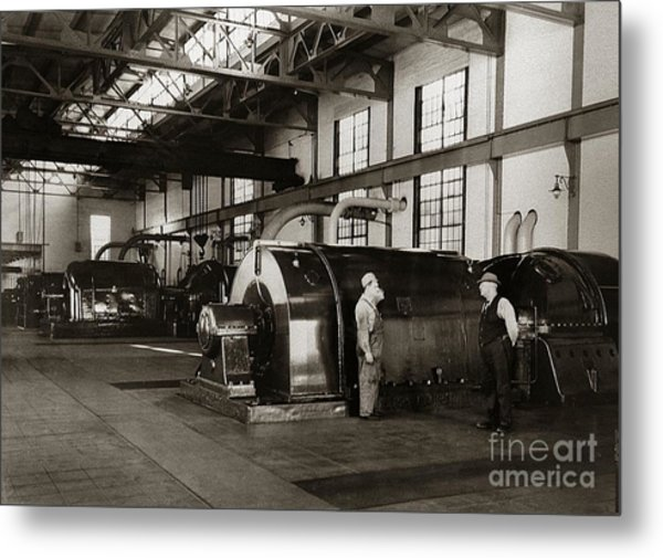 Nanticoke Pa Electrical Generators Glen Alden Mines Power Plant 1945 Metal Print