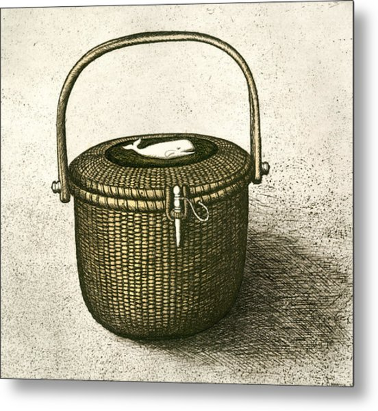 Nantucket Basket Metal Print