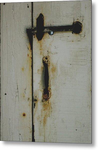 Nantucket Door Metal Print