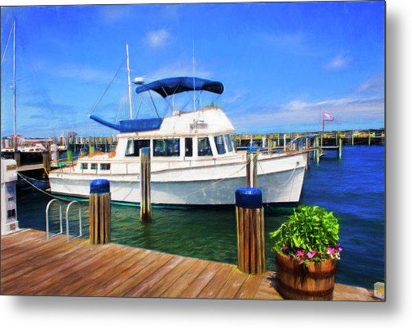 Nantucket Harbor Safe Harnor Series 52 Painted Metal Print