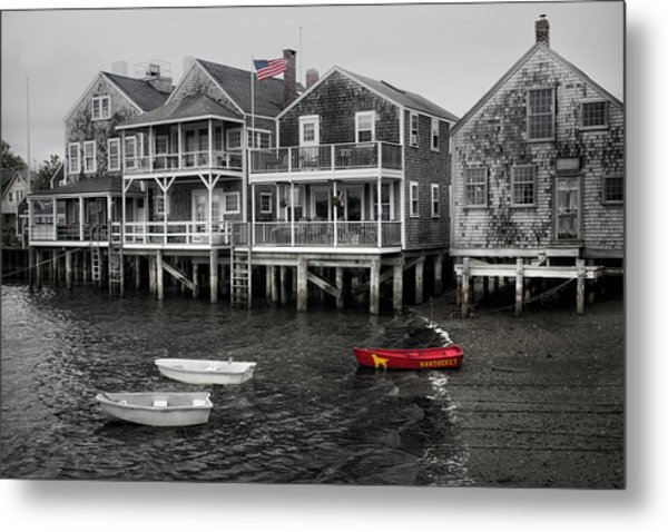 Nantucket In Bw Series 6139 Metal Print