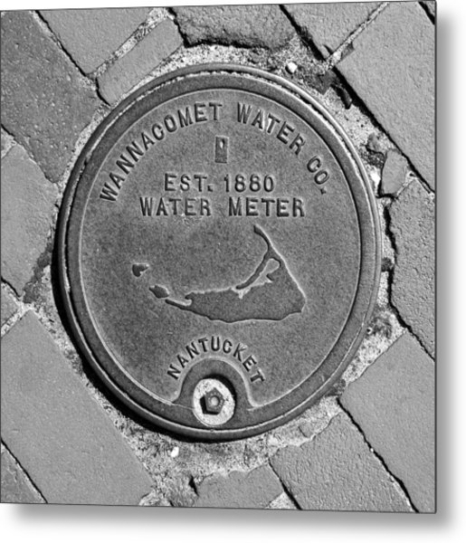 Nantucket Water Meter Cover Metal Print
