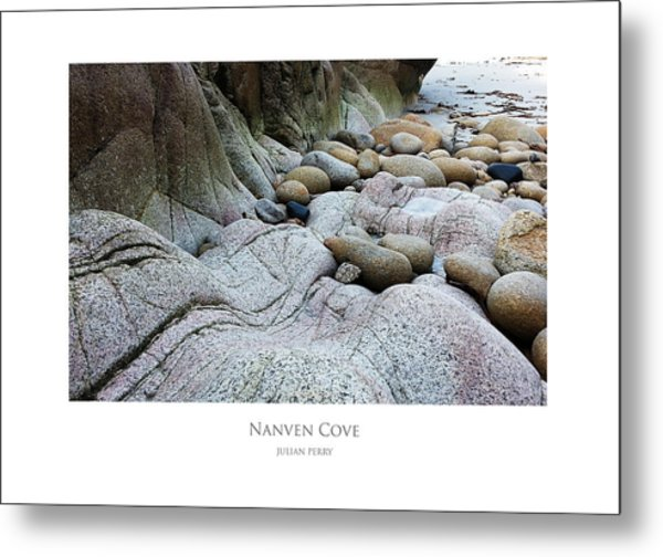 Metal Print featuring the digital art Nanven Cove by Julian Perry