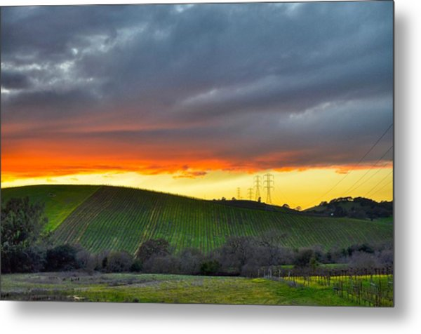 Napa Sunrise Metal Print