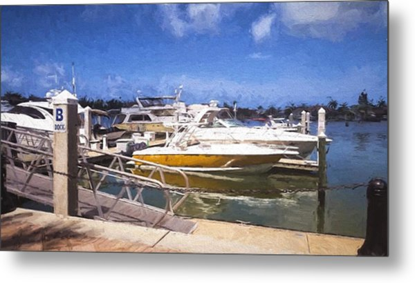 Naples Dock Metal Print