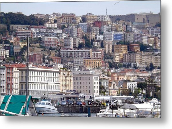 Naples In The Spring Metal Print