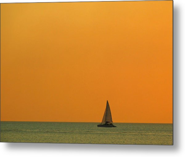 Naples Sunset Metal Print by Juergen Roth