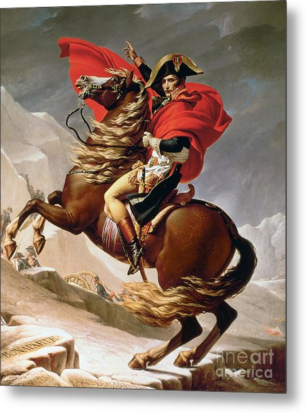 Napoleon Crossing The Alps Metal Print