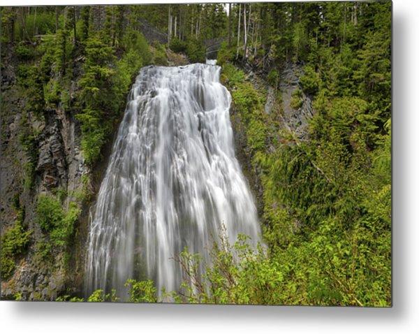 Narada Falls In Mount Rainier National Park Metal Print