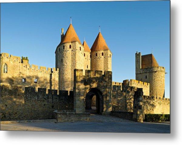 Narbonne Gate Carcasonne Metal Print