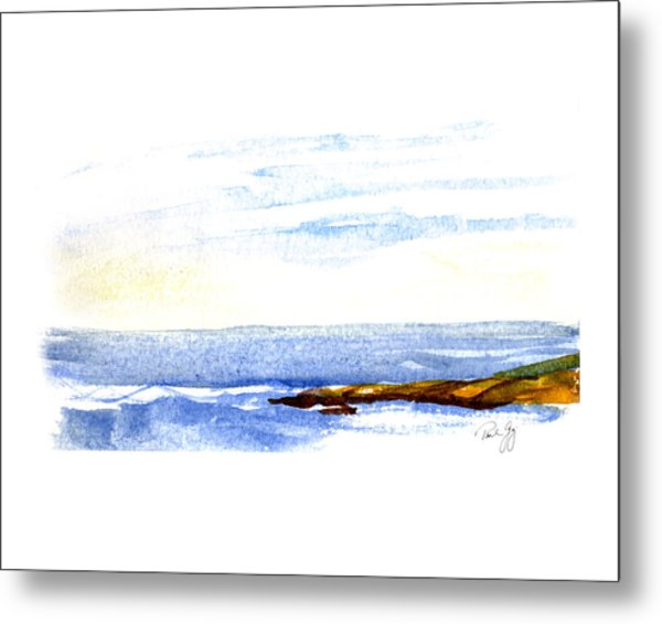 Narragansett Rocks Metal Print