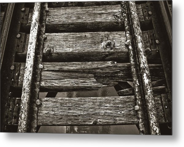 Narrow Gauge Tracks #photography #art #trains Metal Print