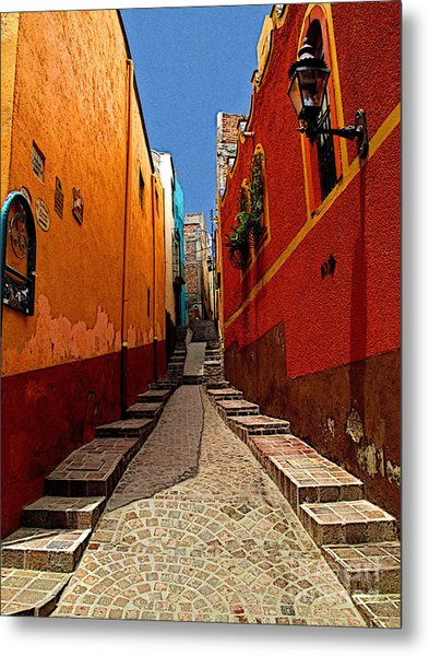 Narrow Passage Metal Print by Mexicolors Art Photography