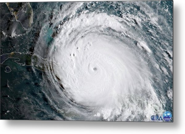 Metal Print featuring the photograph Nasa Hurricane Irma Satellite Image by Rose Santuci-Sofranko