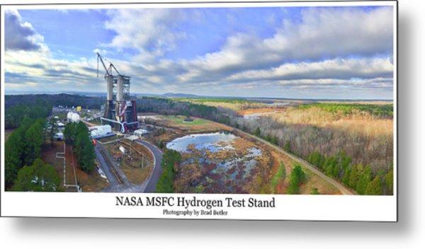 Nasa Msfc Hydrogen Test Stand - Original Metal Print