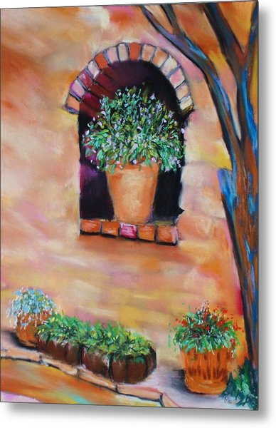 Nash's Courtyard Metal Print
