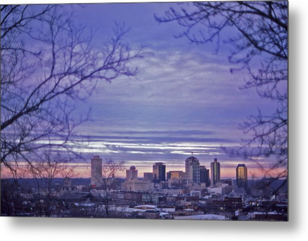 Nashville From The Distance - 2 Metal Print by Randy Muir