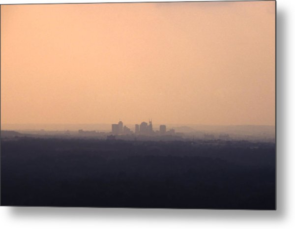 Nashville From The Distance Metal Print by Randy Muir