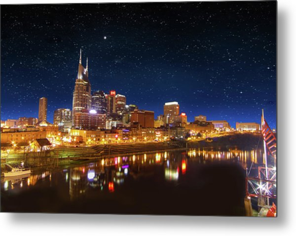 Nashville Nights Metal Print