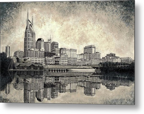 Nashville Skyline II Metal Print