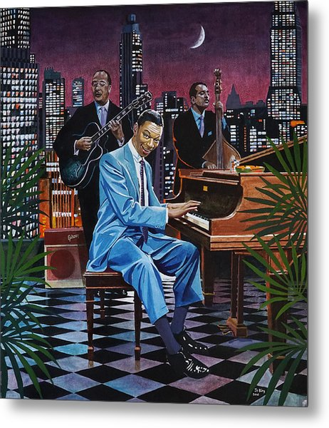 Nat King Cole - After Midnight Metal Print by Jo King