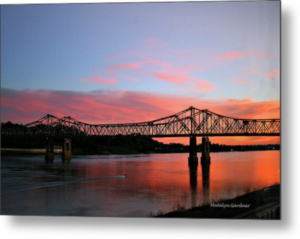 Natchez Sunset Metal Print