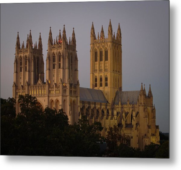 National Cathedral At Twilight Metal Print