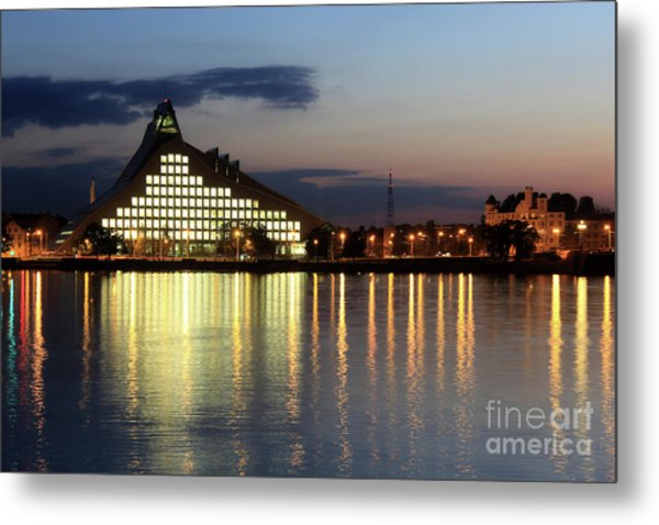 National Library Of Latvia Metal Print