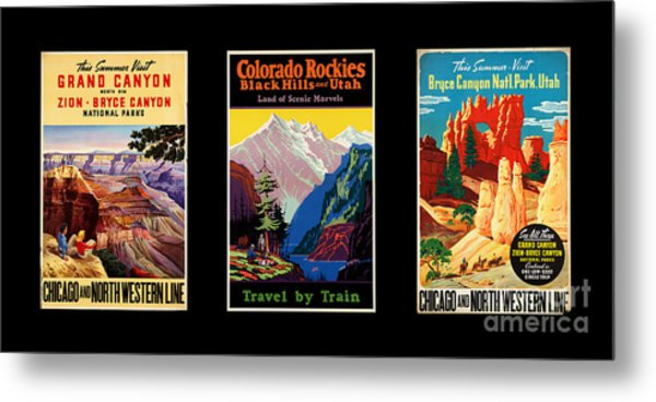 National Parks Posters Metal Print