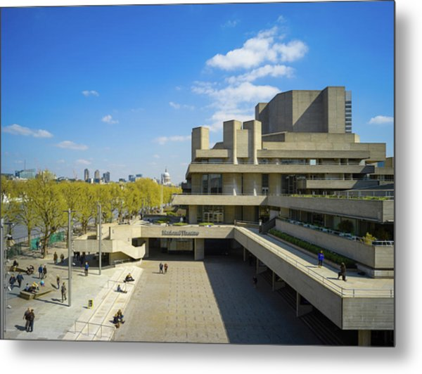 Metal Print featuring the photograph National Theatre by Stewart Marsden