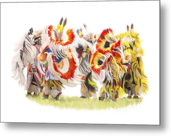 Native Color In Motion Metal Print