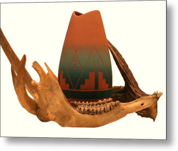 Native American Still Life Metal Print by Diane Merkle