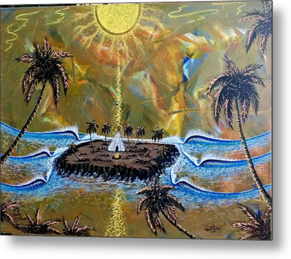 Native Sunset Dream Metal Print