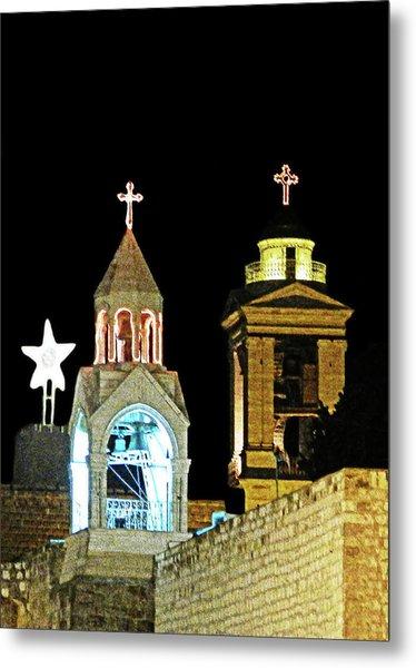 Nativity Church Lights Metal Print