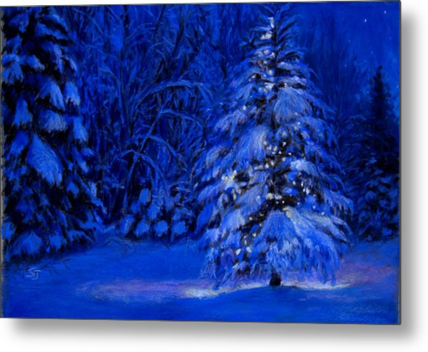 Natural Christmas Tree Metal Print