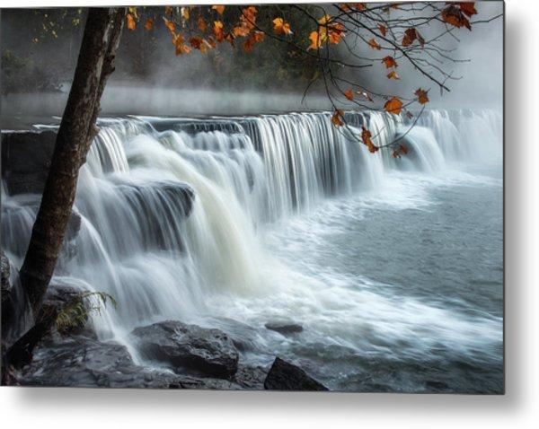 Natural Dam Falls Metal Print
